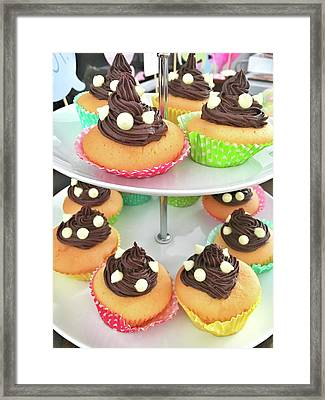Colorful Iced Cupcakes Framed Print by Tom Gowanlock