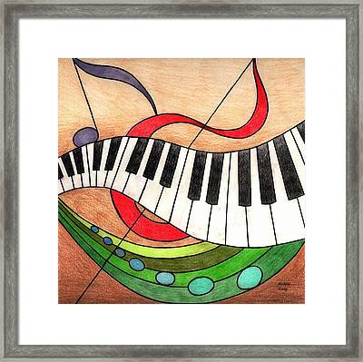 Colorful Music Framed Print by Michelle Young