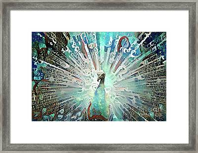 Colorful Peacock Framed Print by Amy Cicconi