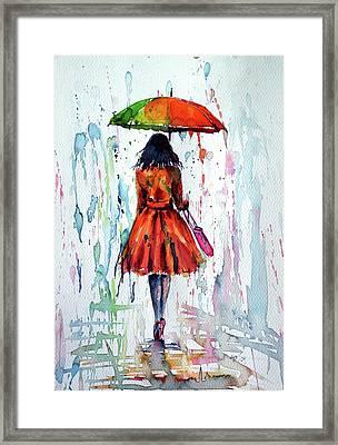Colorful Rain Framed Print