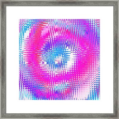 Colorful Wavy Refracted Background Framed Print by Oksana Ariskina