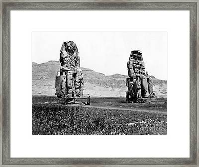 Colossi Of Memnon, Valley Of The Kings Framed Print