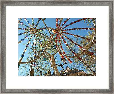 Colourful Canopy Framed Print