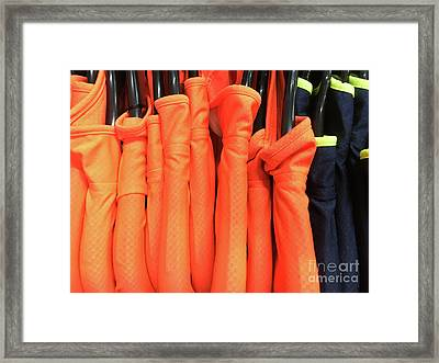 Colourful Sports Tops Framed Print by Tom Gowanlock