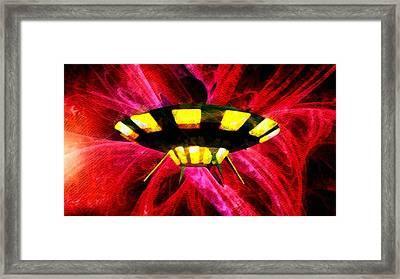 Colourful Ufo Framed Print by Raphael Terra