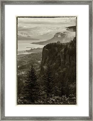 Framed Print featuring the photograph Columbia River Gorge by Angie Vogel