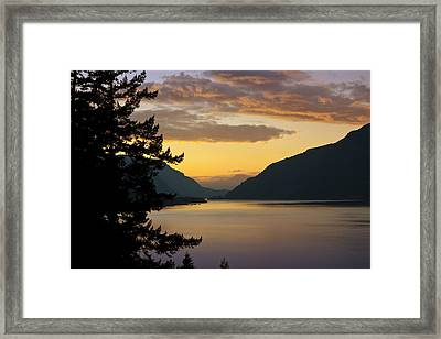 Columbia River Sunset Framed Print