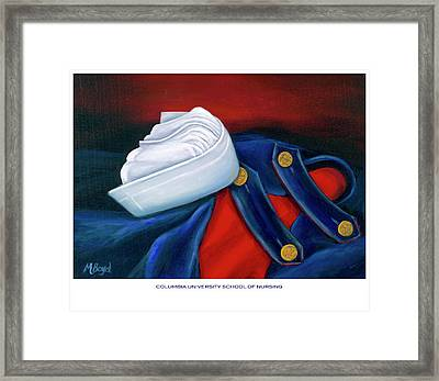 Framed Print featuring the painting Columbia University School Of Nursing by Marlyn Boyd