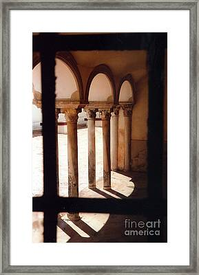 Columns Framed Print by Andrea Simon