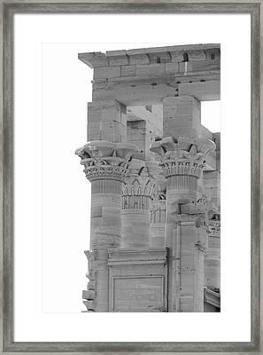 Columns Framed Print by Silvia Bruno