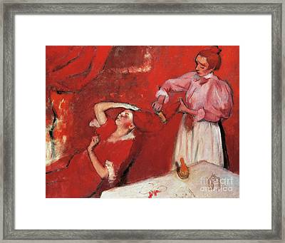 Combing The Hair  La Coiffure Framed Print