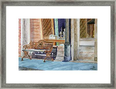 Come Sit A Spell Framed Print by Ron Stephens