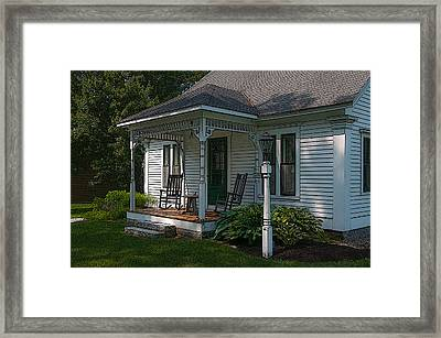 Come Sit On My Porch Framed Print by Brenda Jacobs