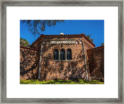 Comfort Station Framed Print