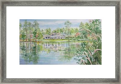 Commissioned Home Portrait Framed Print