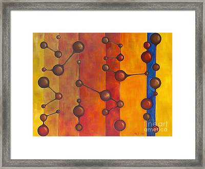 Communication Through Dimensions Framed Print by Dina Soker