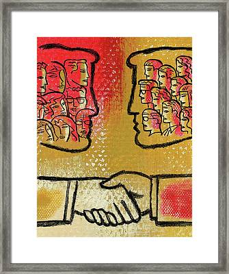 Community And Cooperation Framed Print by Leon Zernitsky