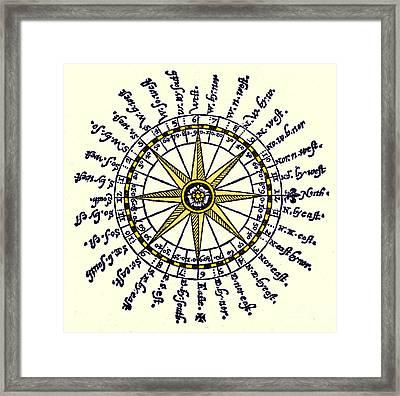 Compass Rose, 1607 Framed Print