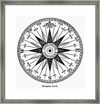 Compass Rose Framed Print by Granger