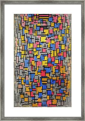 Composition Framed Print by Piet Mondrian