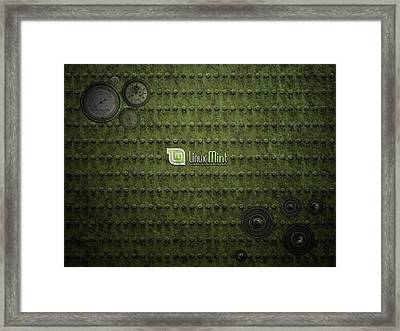 Computer Linux Mint                    Framed Print by F S
