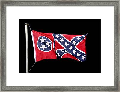 Confederate-flag Framed Print by Ericamaxine Price