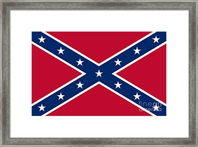 Confederate Flag Framed Print by Frederick Holiday