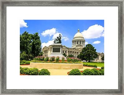 Confederate Women Statue Framed Print