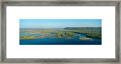 Confluence Of Mississippi And Wisconsin Framed Print by Panoramic Images