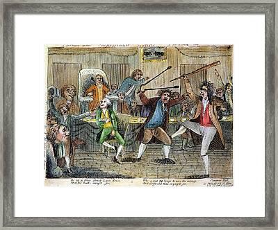 Congressional Pugilists Framed Print by Granger