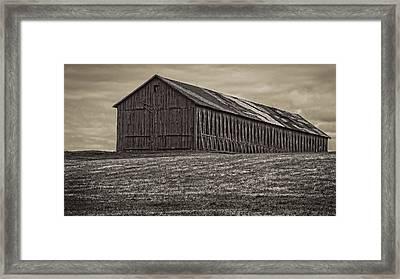 Connecticut Tobacco Barn Framed Print