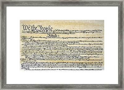 Constitution Framed Print