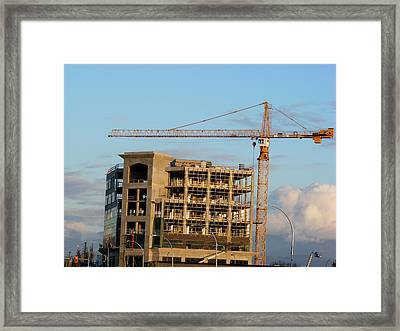 Construction 01 Framed Print by Attila Jacob Ferenczi