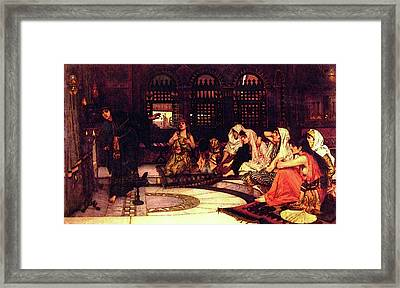 Consulting The Oracle Framed Print