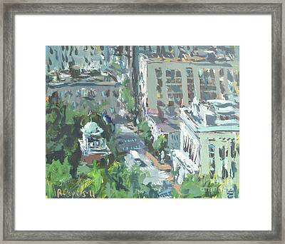 Framed Print featuring the painting Contemporary Richmond Virginia Cityscape Painting by Robert Joyner