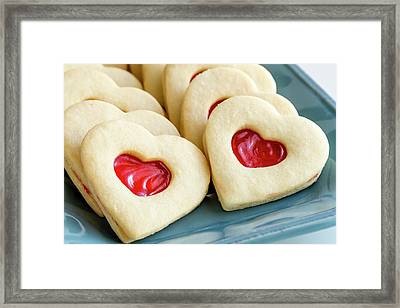 Framed Print featuring the photograph Cookie Love by Teri Virbickis