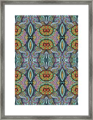Cool, Swirly, Design Framed Print
