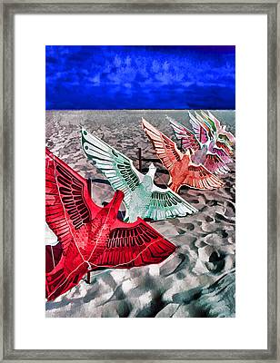 Copacabana Kites Framed Print by Dennis Cox WorldViews