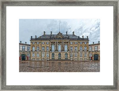 Framed Print featuring the photograph Copenhagen Amalienborg Palace by Antony McAulay