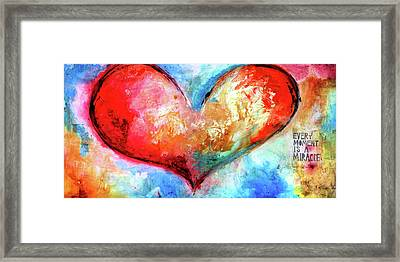 Corazon Framed Print
