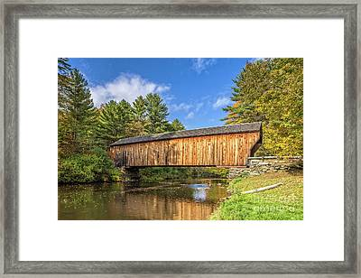 Framed Print featuring the photograph Corbin Covered Bridge Newport New Hampshire by Edward Fielding