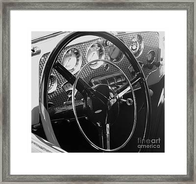 Cord Phaeton Dashboard Framed Print