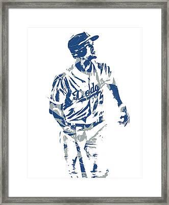 Corey Seager Los Angeles Dodgers Pixel Art 10 Framed Print