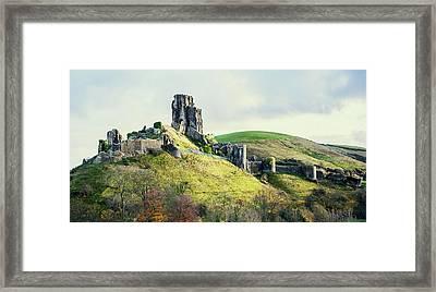 Corfe Castle Framed Print by Svetlana Sewell