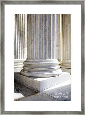 Corinthian Columns, United States Supreme Court, Washington Dc Framed Print by Paul Edmondson