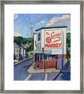 Corner Market Framed Print by Thor Wickstrom
