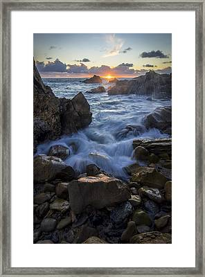 Framed Print featuring the photograph Corona Del Mar by Sean Foster