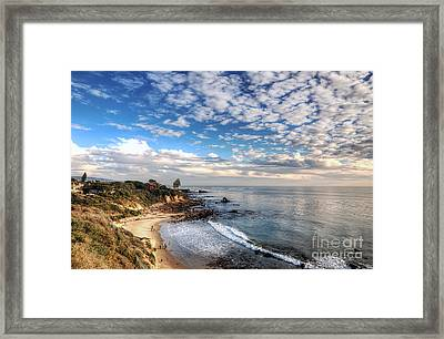 Corona Del Mar Shoreline Framed Print