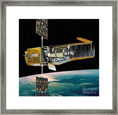 Corot Satellite, Artwork Framed Print