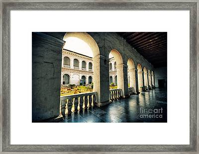 Corridor Framed Print by Charuhas Images